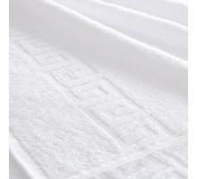 Полотенце 50х90 белое с бордюром Туркмения 380гр.