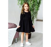 Детское платье Олененок (черный)